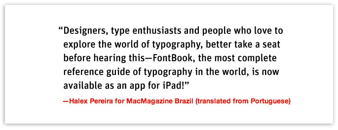 FontBook for iPad – Halex Pereira Quote