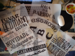 Tânia Raposo's finished lettered pieces