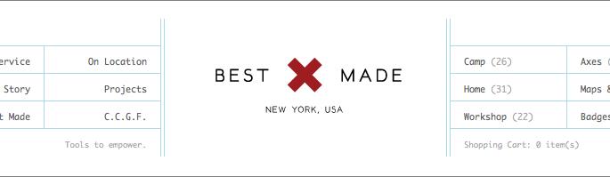 Best Made Company website header
