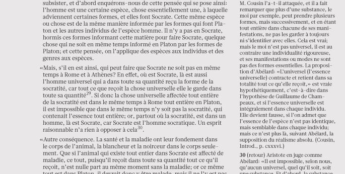 Glosa, Relato Sans