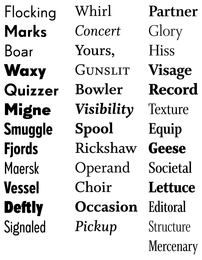 FF Super Grotesk, Whitman
