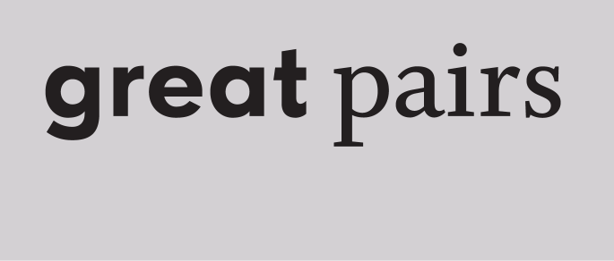 Great Pairs set in FF Super Grotesk, Whitman