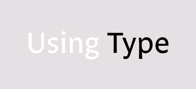 Using Type, set in FF Legato