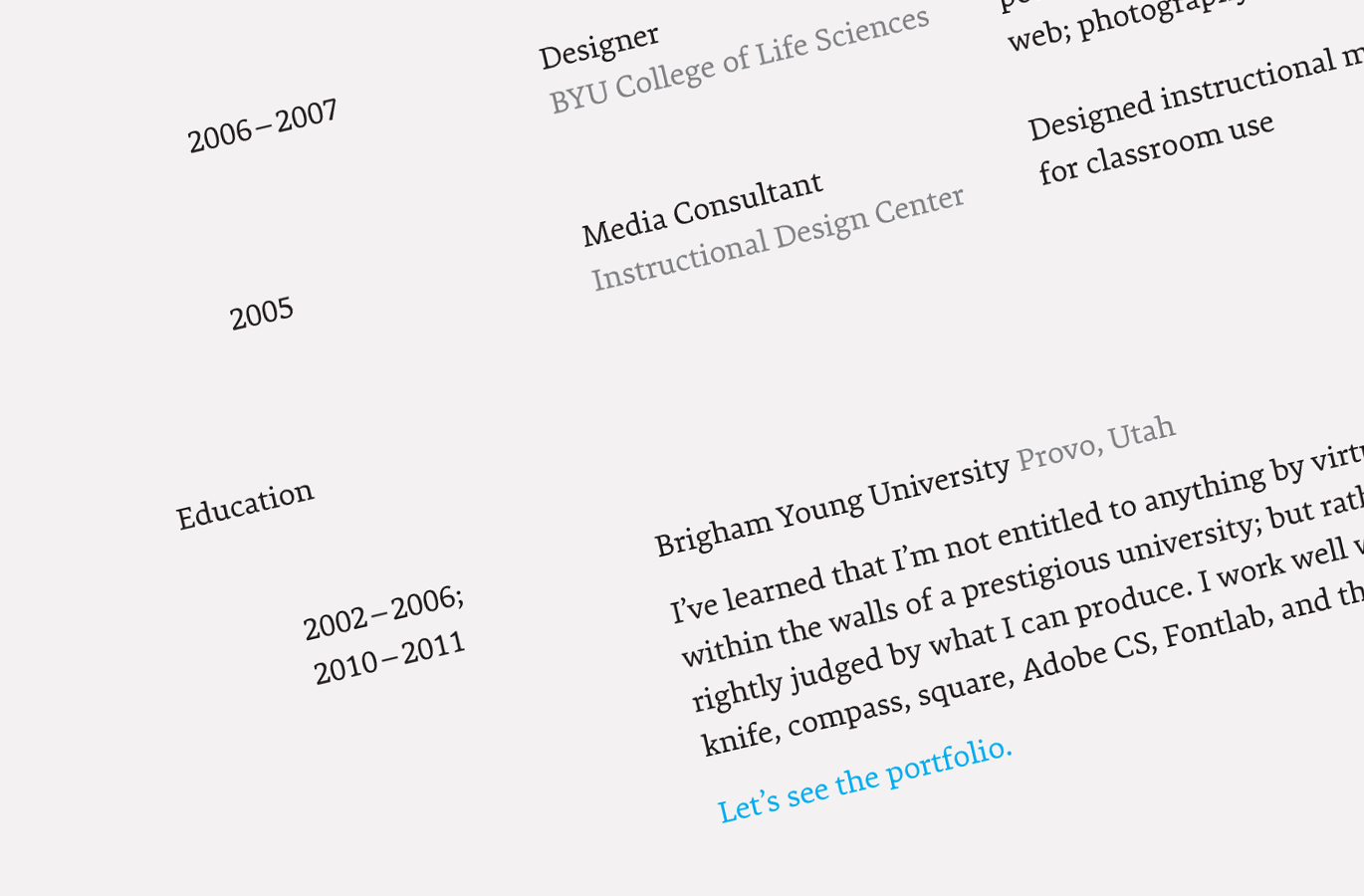 resume font sizes