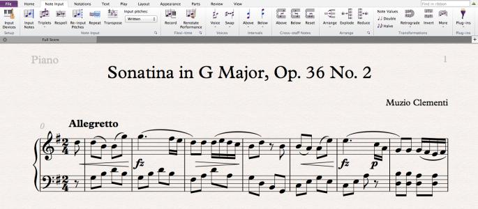 sheet music writing software