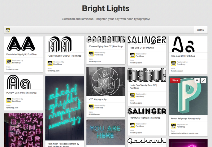 Pinterest Bright Lights