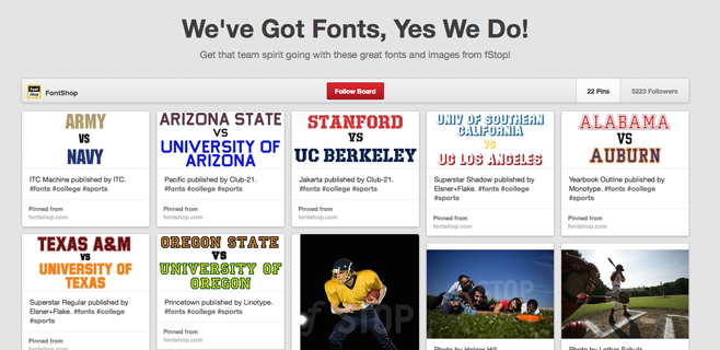 Pinterested: We've Got Fonts, Yes We Do!