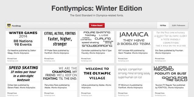 Pinterested: Fontlympics