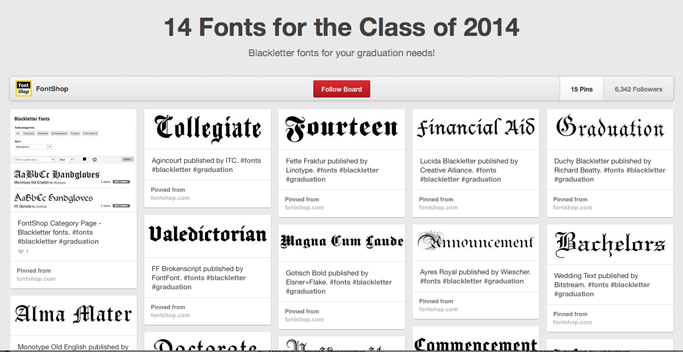 Pinterested: Graduation Fonts